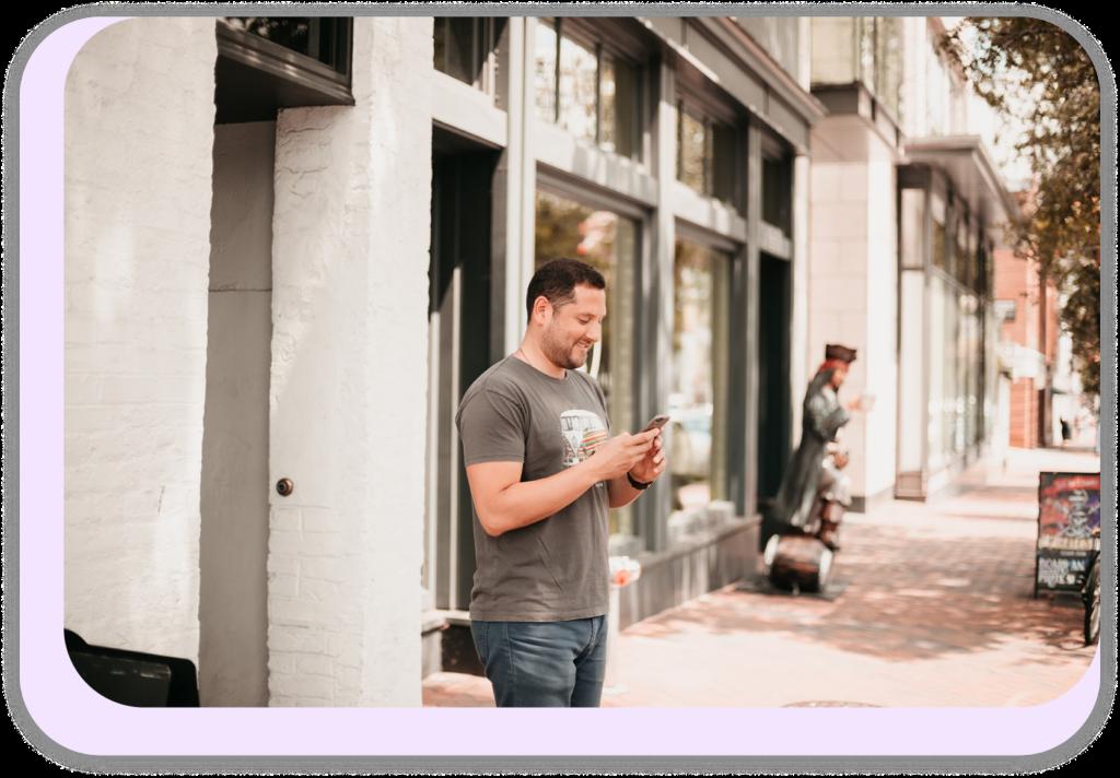 man holding phone